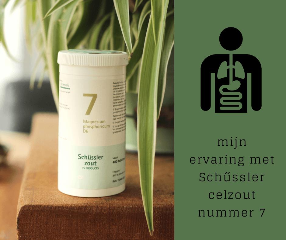 Mijn ervaring met celzout nr. 7 van Dr. Schussler