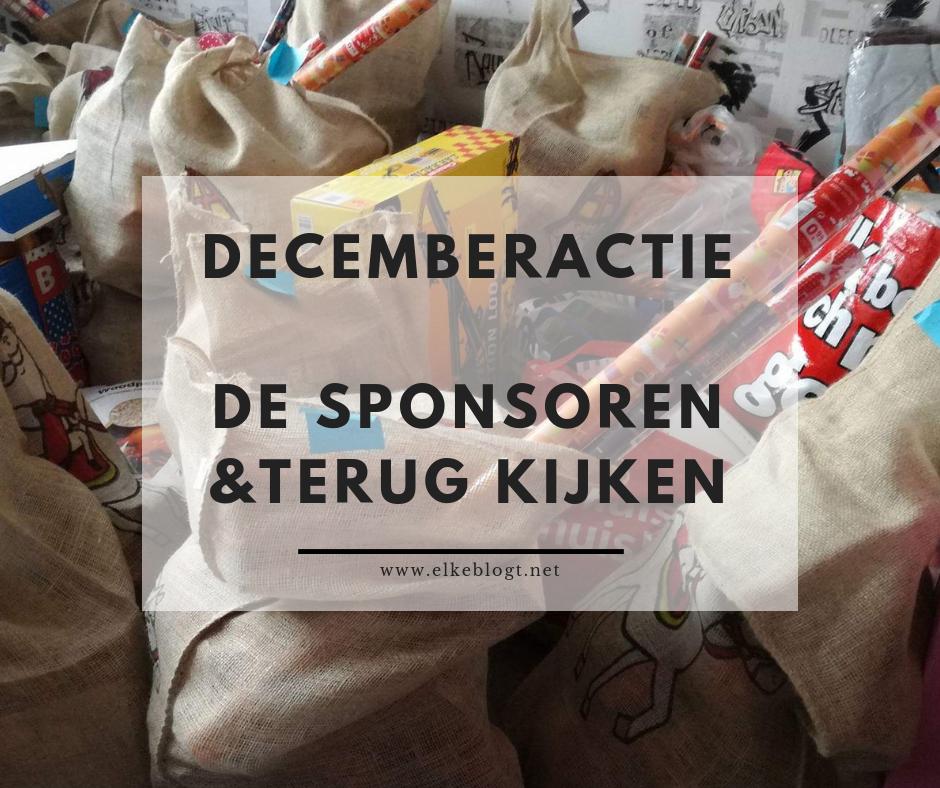 Decemberactie: De sponsoren & terug kijken