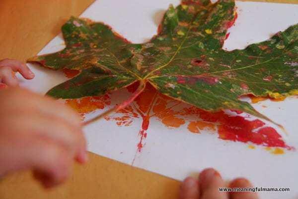 knutselen-met-bladeren