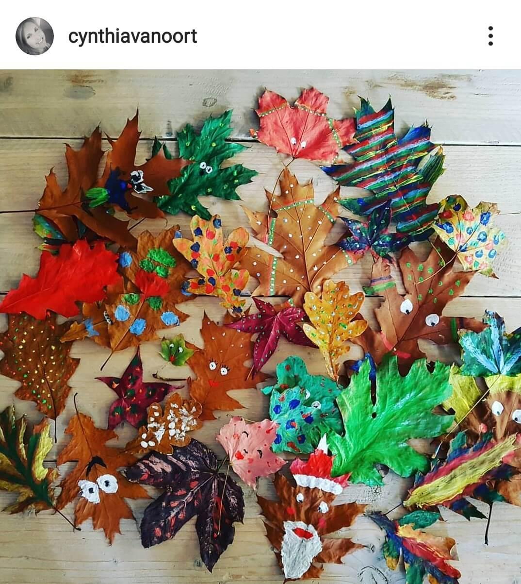 11 x Knutselen met bladeren