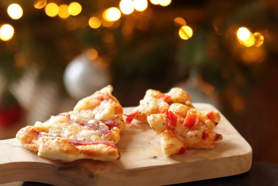 Pizza voor het kerstdiner op school + inspiratie