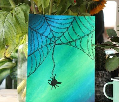 Herfst-Spinnen-spinnenwebben-knutselen